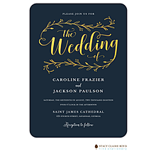 Wedding Day Foil Pressed Invitation