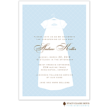 Dressed To Be Blessed Blue Invitation