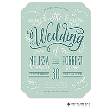 Enchanting Day Wedding Invitation Invitation