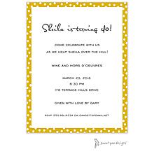 Dotted Edge Mustard Invitation