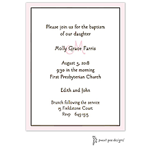 Classic Edge Pink & Chocolate Invitation