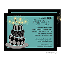 Birthday Crazy Cake Party Invitation
