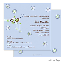 Cheeping Hearts Blue Invitation