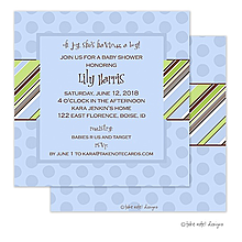 Pin Stripe Boy on Dots Invitation