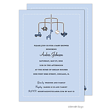 Boy Theme Mobile Invitation