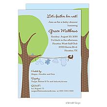 Little Boy Clothes Line Invitation