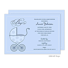 Polka Carriage Boy Invitation