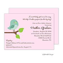 Spring Arrival Baby Girl Invitation