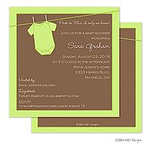 Green Onesie Invitation
