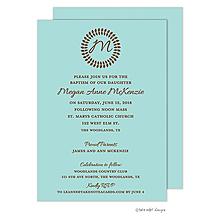 Vine Monogram Center Pool Invitation