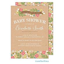 Baby Shower Floral Sprinkles Invitation