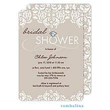 Damask Ivory Invitation