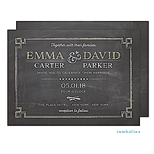Chalkboard Chic Invitation