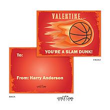 Slam Dunk Basketball Valentine Card