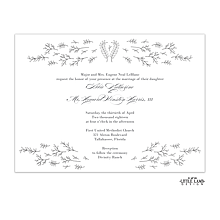 Glistening Florets Foil-Pressed Invitation