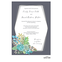 Bright Succulents Foil-Pressed Invitation