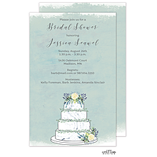 Watercolor Wedding Cake Invitation