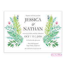 Gorgeous Greenery Wedding Invitation