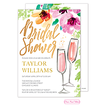 Painterly Blossoms Bridal Shower Invitation