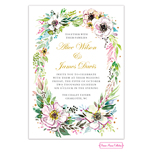 Rustic Floral Wreath Invitation