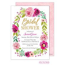 Watercolor Bridal Shower Blossom Invitation