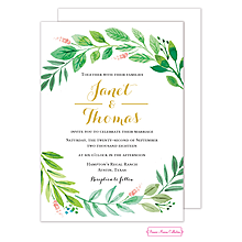 Foliage of Love Wedding Invitation