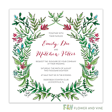 Ornate Vines Invitation