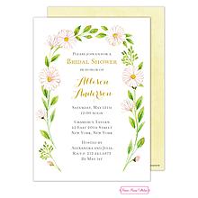 Delicate Daisy Wreath Invitation