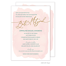 Blush Wash Bat Mitzvah Invitation