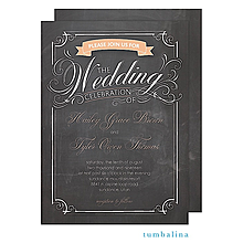 Swirly Chalkboard Invitation