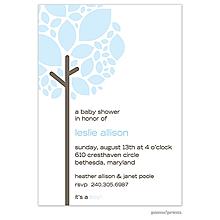 Growing Tree Baby Blue Invitation