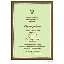 Scallop Border Spring Green Invitation