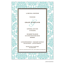 Damask Invitation - Robin