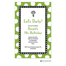 Jumbo Party Dots - Lime Invitation