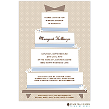 Frosted Wedding Cake Invitation