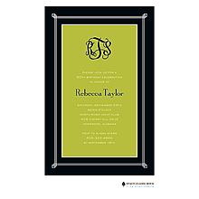 Simply Framed - Green Invitation