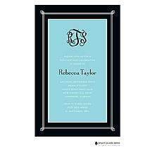 Simply Framed - Aqua Invitation