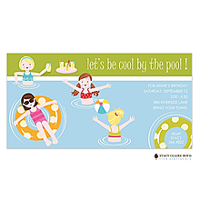 Cool By The Pool Party Invitation