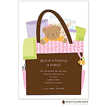 All In The Bag Pink Baby Shower Invitation