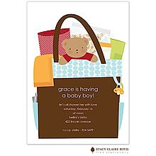 All In The Bag Blue Boy Invitation