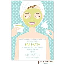 Spa Girl Party Invitation