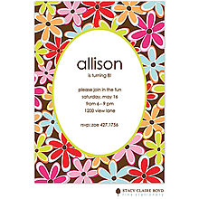 Flower Wow Party Invitation