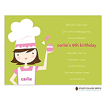 Little Chef Party Invitation