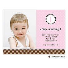 Pastel & Plaid Pink Party Invitation