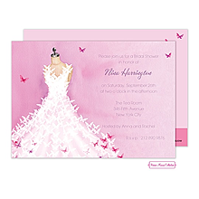 Butterfly Dress Invitation