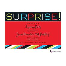 Surprise Stripe Invitation