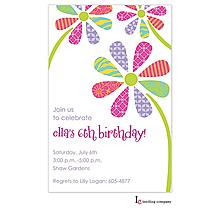 Patterned Petals Invitation