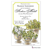 Potted Plants Invitation