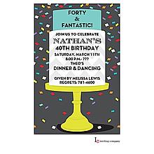 Confetti Cake Invitation