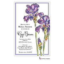 Elegant Iris Invitation